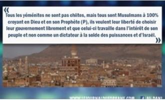 Ceux qui prétendent que parce que les Yéménites sont des chiites et que par conséquent ils méritent de se faire tuer, nous répondrons ceci