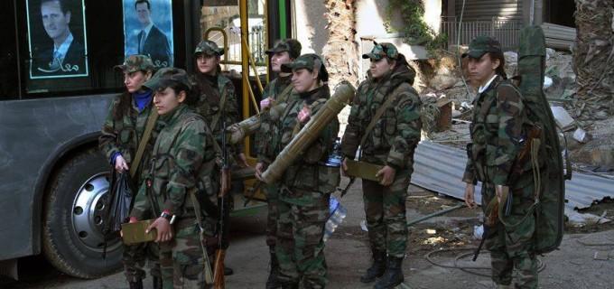 [En images] Des femmes de l'armée syrienne dans le cœur des combats pour chasser l'ennemi terroriste salafiste du territoire syrien.