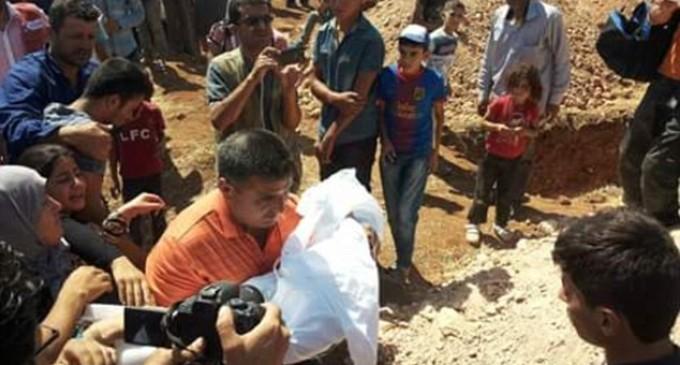 Enterrement de la famille d'Alan Kurdi a Kobané