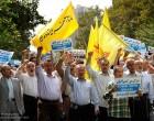[Images] Manifestations dans plusieurs villes iraniennes pour dénoncer l'assaut de l'entité sioniste de la mosquée Al-Aqsa.