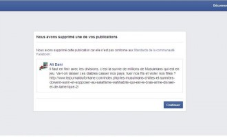 FACEBOOK CENSURE NOS PUBLICATIONS