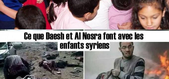 C'est Daesh et Al Nosra qui tuent les enfants de la Syrie !