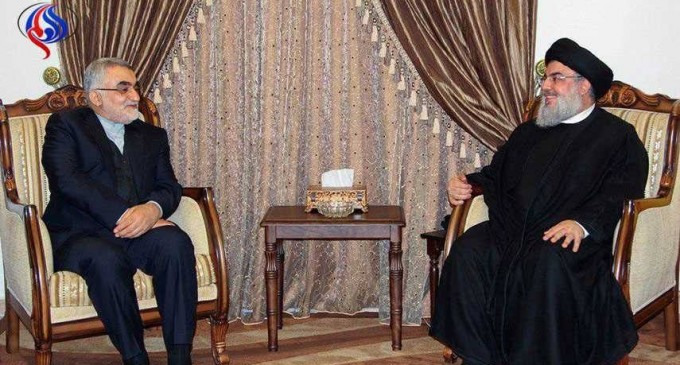 Le Secrétaire général du Hezbollah, Hassan Nasrallah a reçu aujourd'hui Alaeddine Boroujerdi