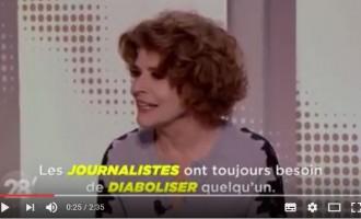 [Vidéo]   L'actrice française.Fanny Ardant s'adresse aux journalistes d'Arte : «Vous êtes les laquais de l'Amérique»