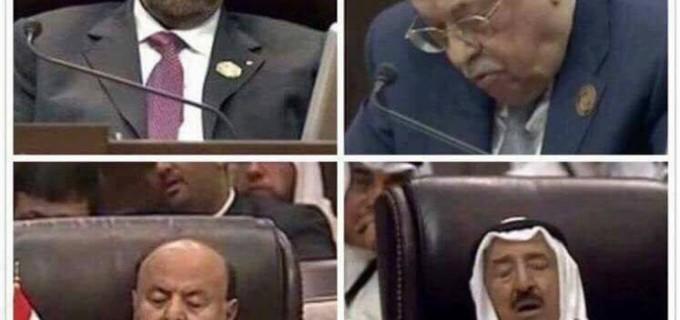 Le dernier sommet de la Ligue Arabe en une seule image !