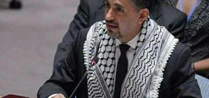 L'Image du jour : le Représentant de la Bolivie à l'ONU, portant le kefiyeh palestinien au cours de son allocution au conseil de sécurité
