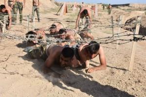 Les combattants de la Mobilisation Populaire irakienne s'entraînent avant d'aller combattre les terroristes salafistes de Daesh7