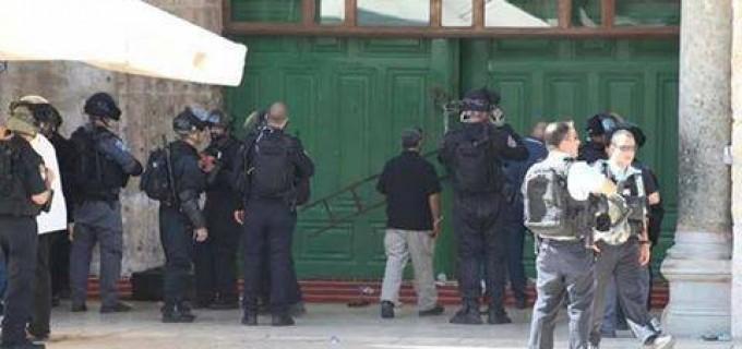 Aujourd'hui 23ème jours du mois de Ramadan, la Mosquée Sacrée d'Al-Aqsa est attaquée et occupée par l'armée israélienne