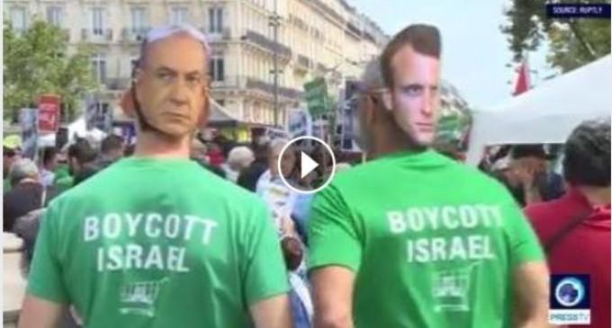 [Vidéo] | Des manifestants s'opposent à la visite du 1er ministre israélien à Paris