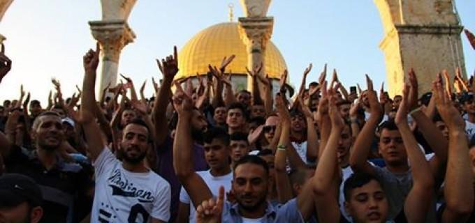 L'ambiance festive d'hier n'a pas été vécue par la mosquée Al-Aqsa depuis des années