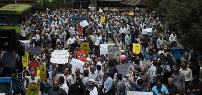 En images : Les iraniens sont sortis en masse pour protester contre l'agression que subit les Palestiniens à Al Qods Al Charif, après la prière du vendredi à Téhéran