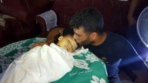 Mohamed Ahmed Al-Sayes (6 ANS) est l'un des 23 enfants récemment morts parce qu'ils ont été empêchés de se rendre à l'extérieur de Gaz1