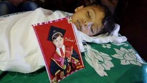 Mohamed Ahmed Al-Sayes (6 ANS) est l'un des 23 enfants récemment morts parce qu'ils ont été empêchés de se rendre à l'extérieur de Gaz3