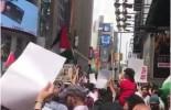 Une manifestation à Times Square – New York City en solidarité avec la mosquée Al Aqsa..