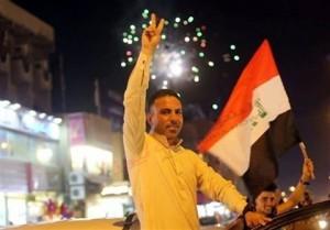 les habitants de Bagdad célèbrent la libération de Mossoul... Que voulez-vous dire à cette occasion 1