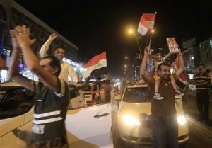 les habitants de Bagdad célèbrent la libération de Mossoul... Que voulez-vous dire à cette occasion 16