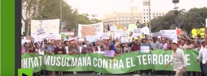 La communauté musulmane à Barcelone se rassemble pour dénoncer le terrorisme
