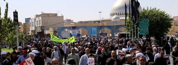 MANIFESTATIONS MONSTRES hier après la prière du vendredi à Téhéran