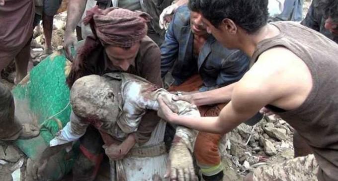 L'ARABIE SAOUDITE BOMBARDE UNE MAISON : 12 MORTS !!!