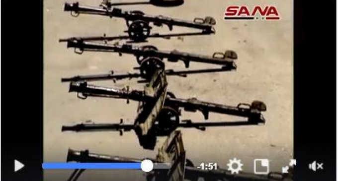 [Vidéo] | L'Armée Arabe Syrienne saisie des armes aux terroristes de Daesh et du Front al-Nosra