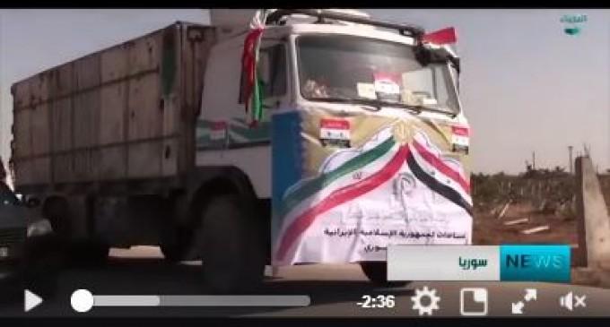 [Vidéo] | Les habitants d'Alep reçoivent des aides humanitaires iraniennes