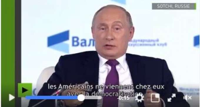 Poutine avertit l'Arabie Saoudite : «Riyad doit craindre que les Américains ne viennent chez eux avec la démocratisation»