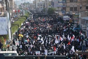 manifestation monstre à Saada (Yémen) pour commémorer le martyre de l'Imam Hussein (AS) - Petit fils du Prophète (P)10