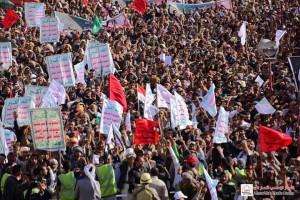 manifestation monstre à Saada (Yémen) pour commémorer le martyre de l'Imam Hussein (AS) - Petit fils du Prophète (P)12
