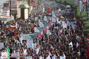 manifestation monstre à Saada (Yémen) pour commémorer le martyre de l'Imam Hussein (AS) - Petit fils du Prophète (P)3
