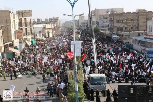 manifestation monstre à Saada (Yémen) pour commémorer le martyre de l'Imam Hussein (AS) - Petit fils du Prophète (P)4