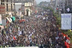 manifestation monstre à Saada (Yémen) pour commémorer le martyre de l'Imam Hussein (AS) - Petit fils du Prophète (P)7