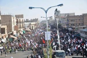 manifestation monstre à Saada (Yémen) pour commémorer le martyre de l'Imam Hussein (AS) - Petit fils du Prophète (P)8