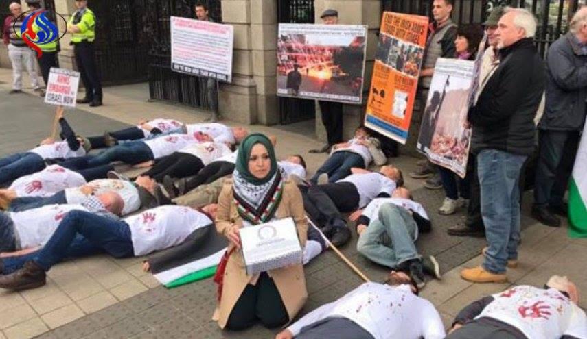 solidarité irlandaise avec la Palestine, le gouvernement a reçu une pétition demandant de mettre fin au commerce des armes avec l'entité israélienne1