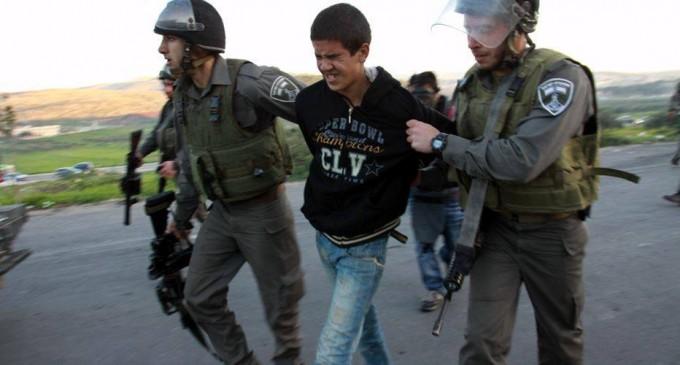 500 enfants Palestiniens ont étés déportés dans les camps de détentions israéliens en 2017
