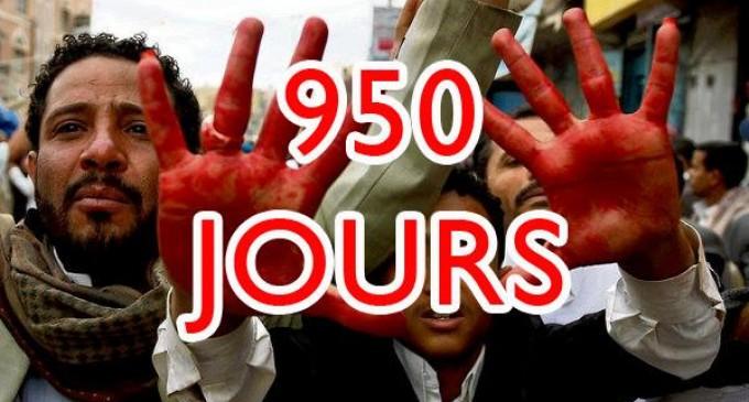 950 jours que la coalition arabo-US continue de bombarder le Yémen