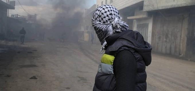 Affrontements à Qalqilya City dans la Cisjordanie occupée suite à la décision de Trump sur Jérusalem