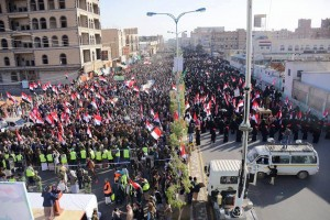 Quelques images de la manifestation monstre dans la capitale yéménite Sanaa2