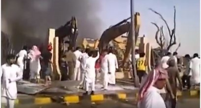 [Vidéo] | Regardez l'ampleur des dégâts dû au missile balistique lancé par la résistance yéménite contre le palais royal de Yamamah à Riyad (Arabie Saoudite)