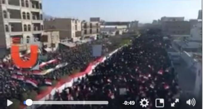 En vidéo : manifestation monstre à Sanaa (Yémen) en soutien à la résistance yéménite AnsarAllah