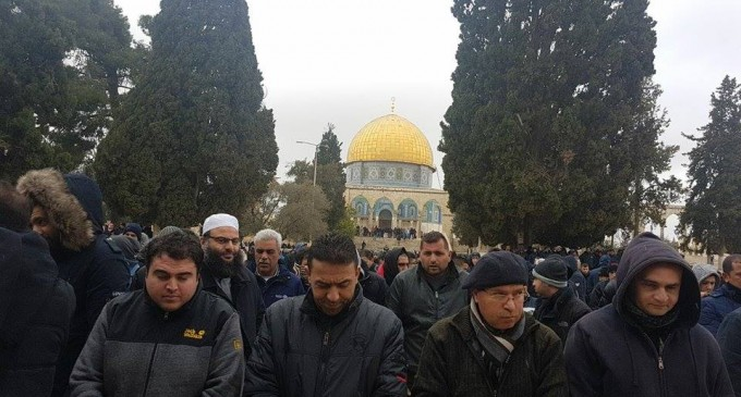 25 000 fidèles accomplissent la Prière du Vendredi dans la mosquée d'Al-Aqsa à Jérusalem occupée