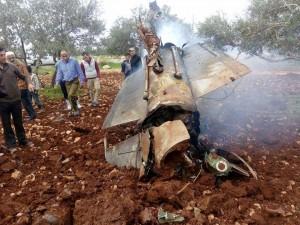 La DCA Syrienne abat un avion F-16 israélien3