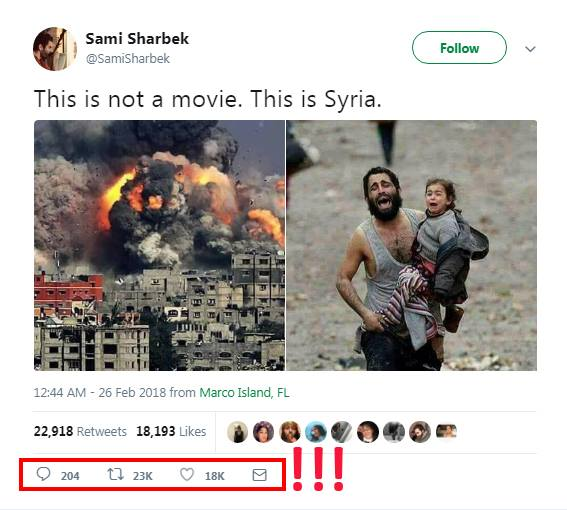 Un exemple simple montrant comment la propagande sur la Ghouta se propage