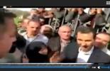 Le président Assad avec les gens de la Gouta Orientale qui ont été libérés par les héros de l'Armée Arabe Syrienne des mains des terroristes