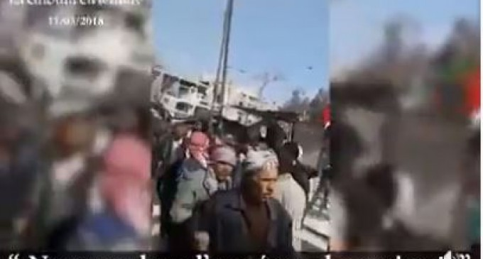 Les habitants de la Ghouta affirment leur soutien à l'Armée Arabe Syrienne