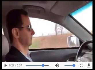 Le Président Assad pendant sa visite dans la Ghouta orientale