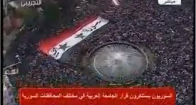 Syrie, des millions de personnes viennent en soutien à leur gouvernement à Damas