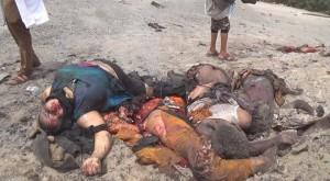 14 civils pour la plupart des femmes et des enfants tués lors d'un raid aérien de la coalition arabo-US1