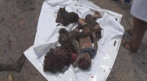 14 civils pour la plupart des femmes et des enfants tués lors d'un raid aérien de la coalition arabo-US3