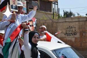 Damas aujourd'hui en soutien à l'Armée Arabe Syrienne contre l'agression étrangère3