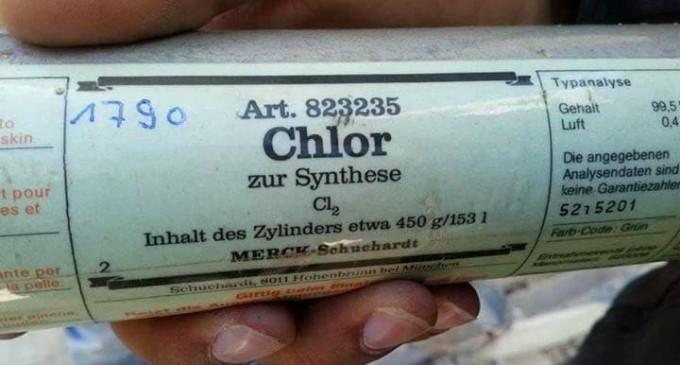 Des conteneurs de gaz chlore provenant d'Allemagne trouvés dans la Ghouta orientale après que les terroristes salafistes se sont retirés de leurs positions